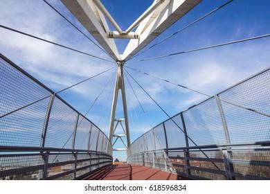 walkway bridge at morning