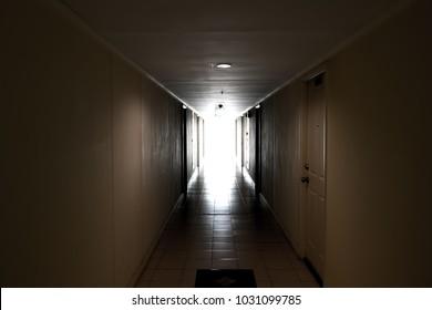 Walkway in the building.