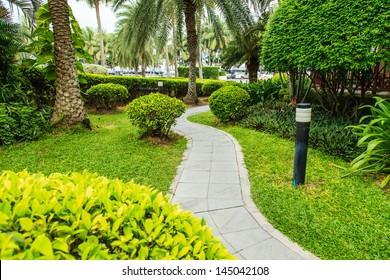 walkway in garden