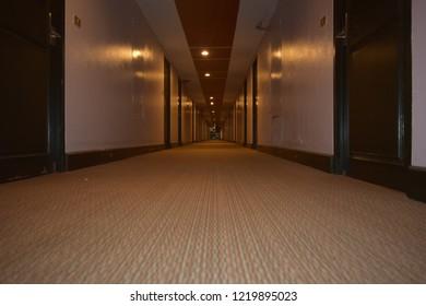 Walkway in the hotel And doors