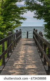 Walkway to Lake Superior Michigan Upper Peninsula