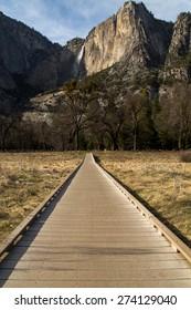 walkway leading to Yosemite Falls