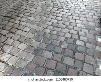 Walkway made of natural stone