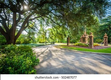 Walkway outside the South Carolina State House, in Columbia, South Carolina.