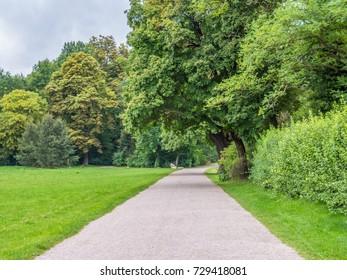 Walkway in the Park an der Ilm, Weimar, Germany