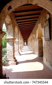 Walkway at San Juan Capistrano Mission in California