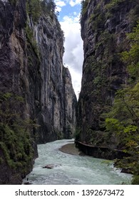 A walkway through the spectacular Aare Gorge