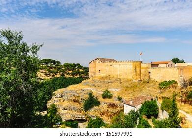 Wall around Segovia, a city in the autonomous region of Castile and Leon, Spain.