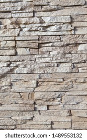 Wall background, lined with natural stone