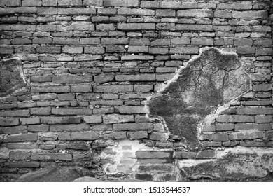 Wall the background of the old cement brick has grey many  horizontal block which are beautiful.