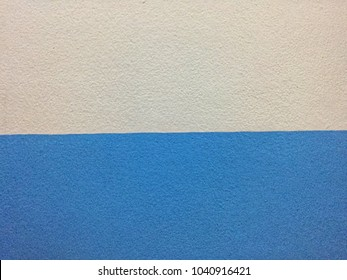 Wall background and texture in white and blue.