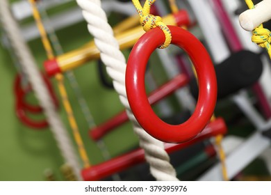 wall bars for children , gymnastics  rings, rope ladder