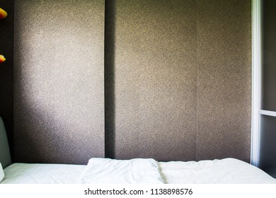 wall in the bedroom