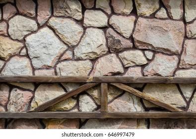 a wall of big stones