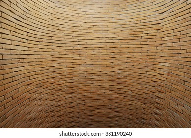 Wall brick curve background, Industrial background, Thailand
