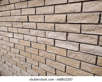 Wall brick texture with yellow color