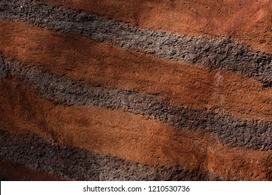 wall in brown striped