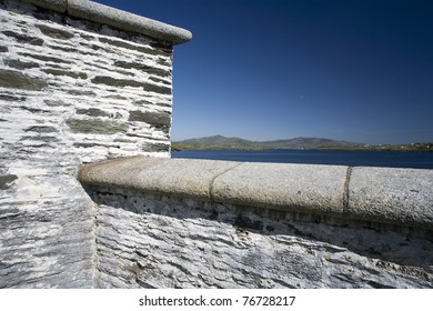 A wall of a building on the Irish coast.