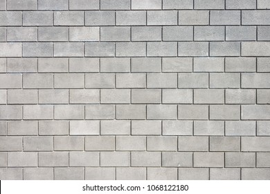 Wall of cement blocks. Background and texture