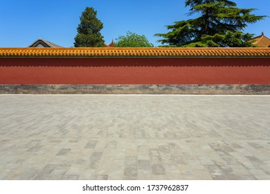 A wall of Chinese architecture