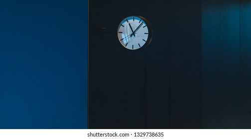 wall clock in the business center