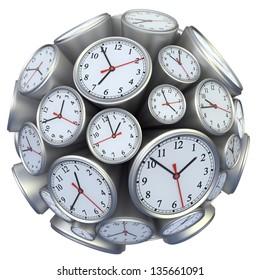 Wall clock concept