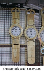 Wall Clock in form of Wrist Watch