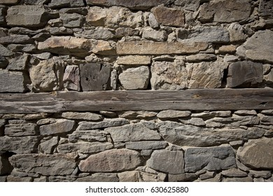 Wall closeup of an old house in Bulgarian village