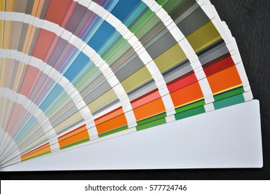 Wall color samples / palette background.