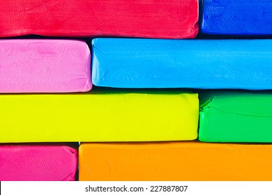 Wall Colorful clay on a white background,.