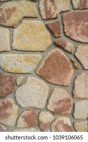 Wall composed of large stone color