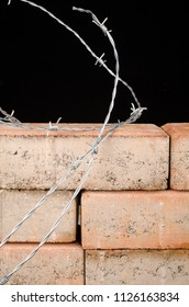 The wall, a conceptual shot about restrictive immigration policies and increasing xenophobia