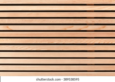 Wall covering with wooden slats; Regrowing raw material; Versatile natural material