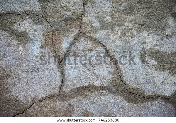 Wall with crack in industrial building, great for your design and texture background