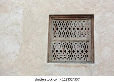 Wall decoration and design at Shaikh Isa bin Ali House in Al Muharraq Bahrain