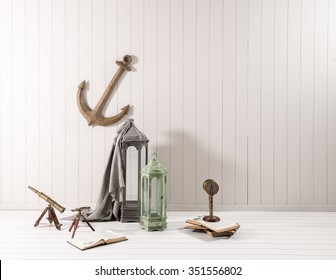 wall decoration with ship anchor  Means sailor