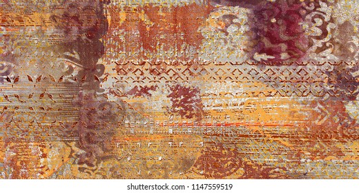 Wall Decorative Abstract Home Art paint, Wall Paper Texture Background,Or Tile Design.