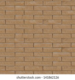 Wall of Decorative Bricks.  Seamless Tileable Texture. .