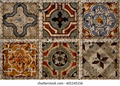 wall decorative colorful tiles design background