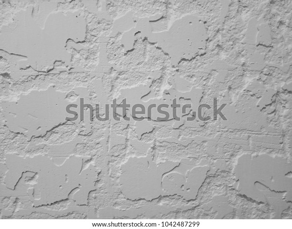 Wall design modern on black and white background.