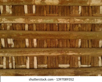 Wall detail of Joglo house made of bamboo