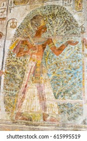 Wall drawing inside the temples of Amada, Nubia, Egypt