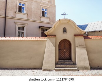Wall and entrance to the Christian monastery