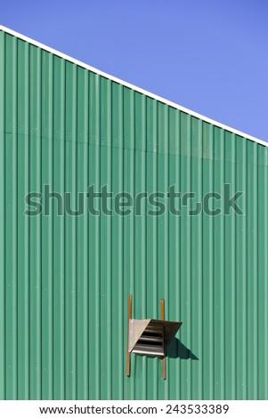 Wall Garage Sheet Metal Plating Zinc Stock Photo Edit Now
