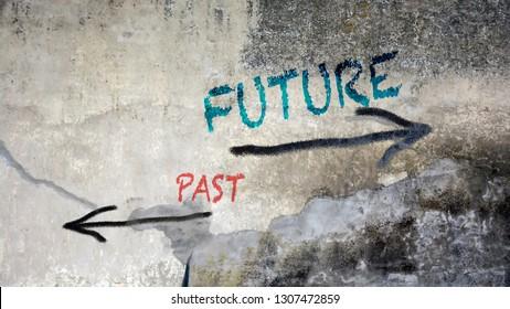 Wall Graffiti Future vs Past