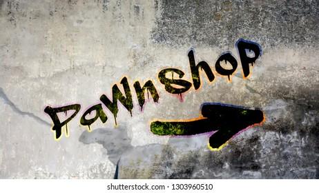 Wall Graffiti to Pawnshop