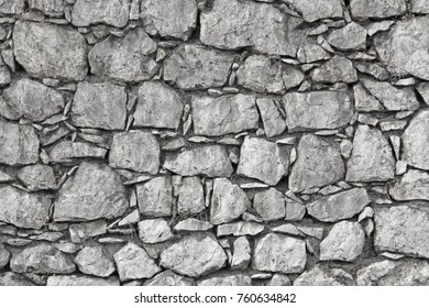 A wall from the Great Old Stones. Gray Stone Background. Gray Background for Your Design, Decoration, Templates.