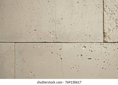 wall of ground stone slabs, backround texture