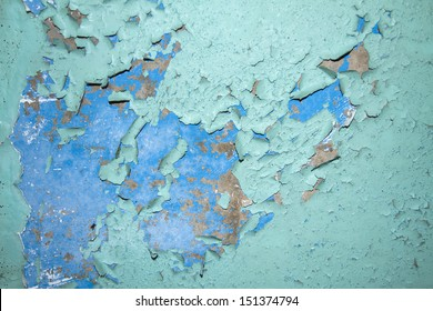 wall with grunge paint chips