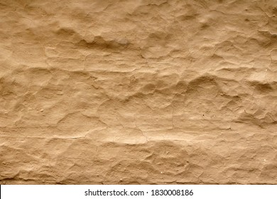 Wall grunge texture abstract background. The wall surface is plaster or natural primer material. Grungy vintage natural clay textured surface material. - Shutterstock ID 1830008186